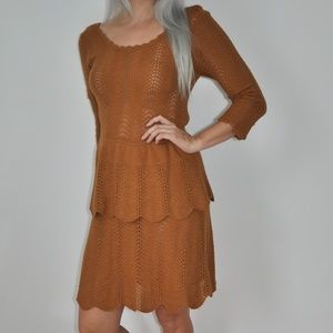 Knitted & Knotted By Anthropologie Scallop Dress